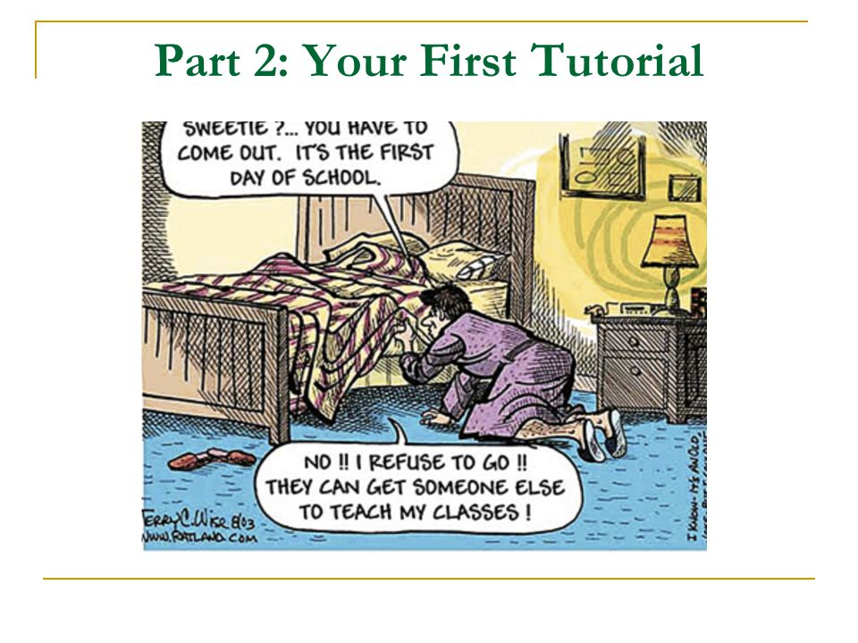 Part 2: Your First Tutorial
