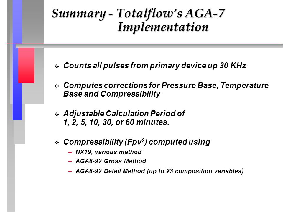 Summary - Totalflow's AGA-7 Implementation