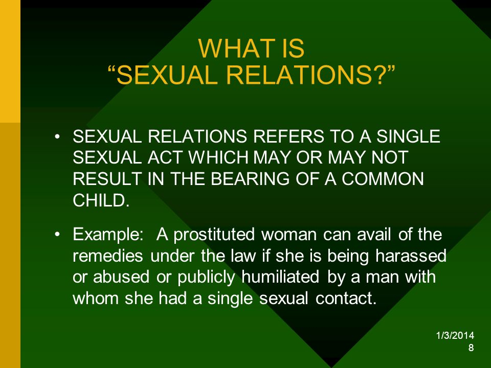 WHAT IS SEXUAL RELATIONS