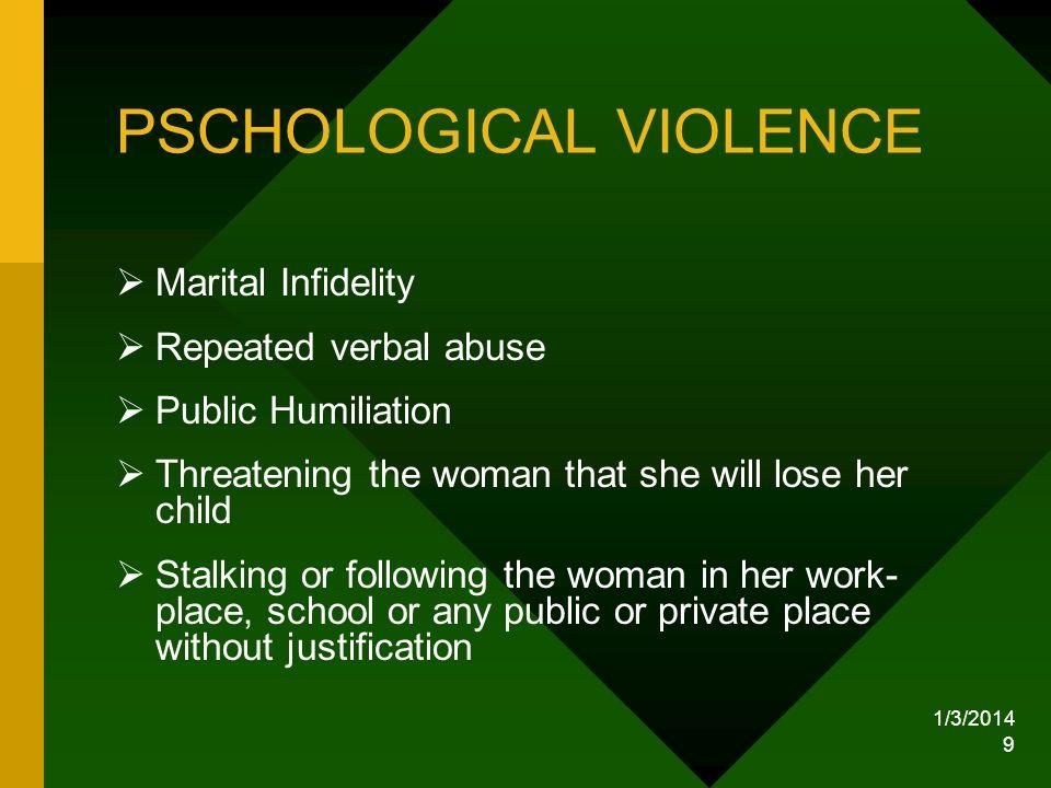 PSCHOLOGICAL VIOLENCE