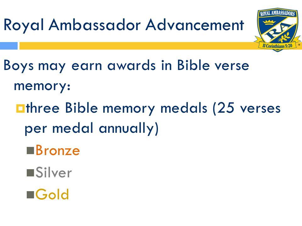 Royal Ambassador Advancement