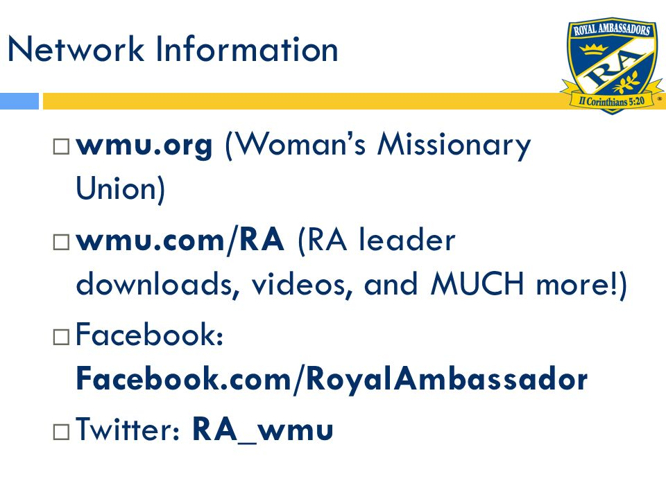 Network Information wmu.org (Woman's Missionary Union)