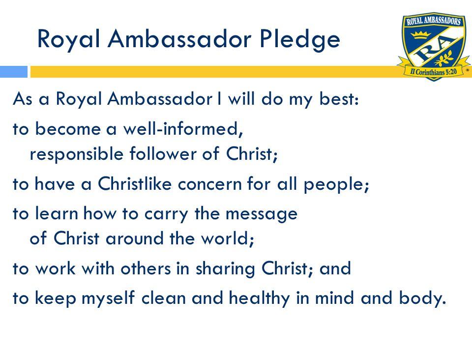 Royal Ambassador Pledge