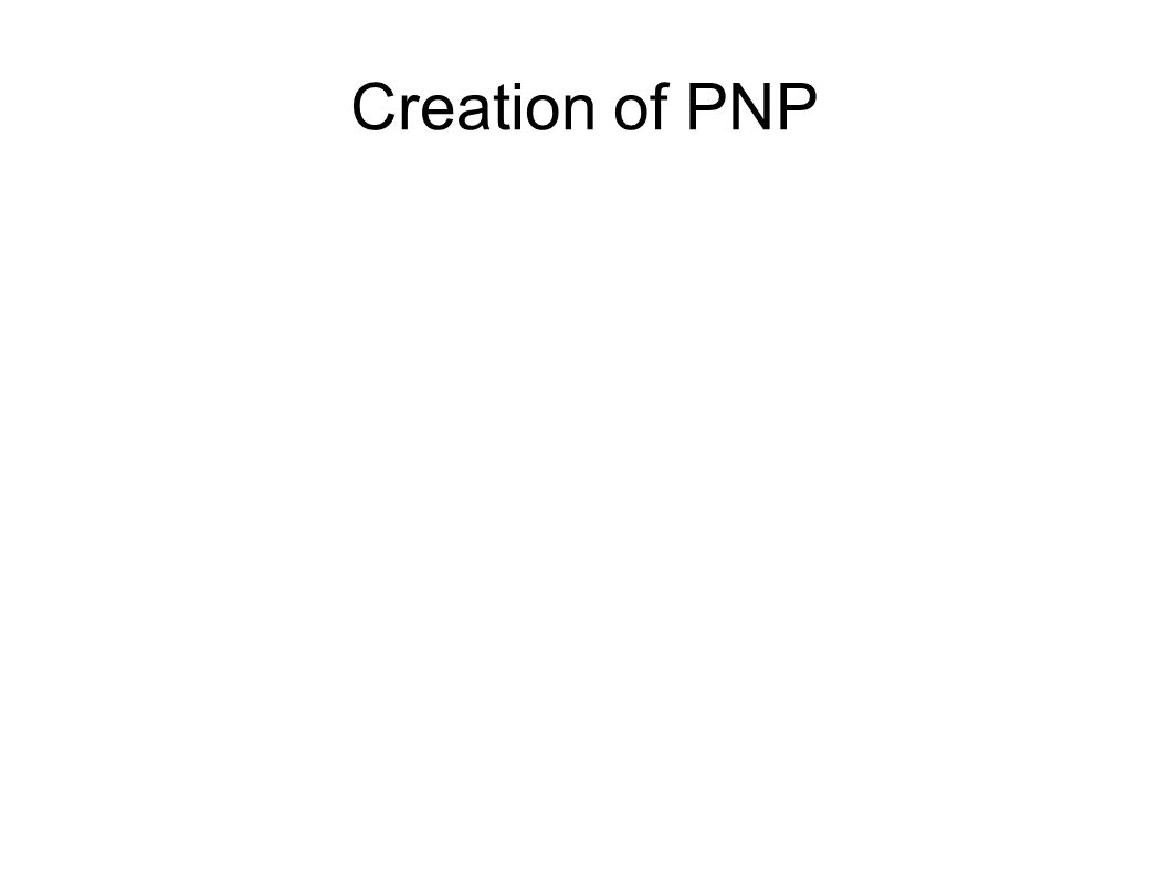 Creation of PNP