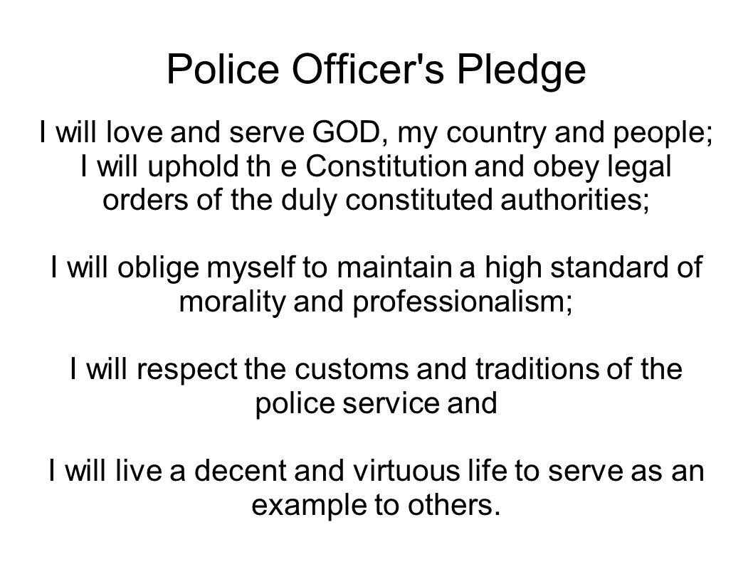 Police Officer s Pledge