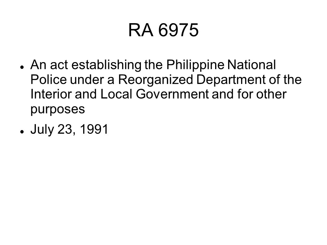 RA 6975