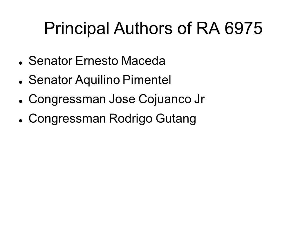 Principal Authors of RA 6975