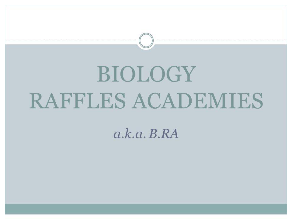 BIOLOGY RAFFLES ACADEMIES