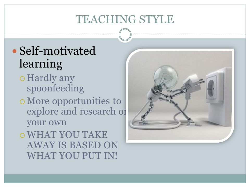 Self-motivated learning