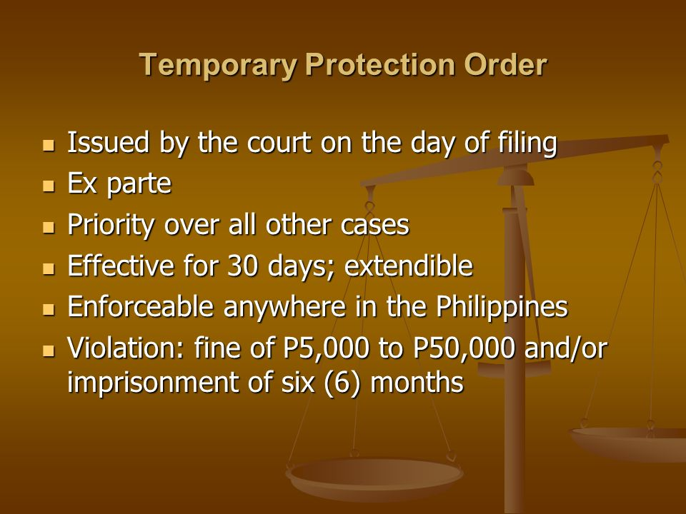 Temporary Protection Order