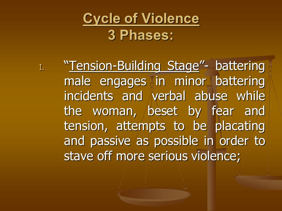 Cycle of Violence 3 Phases: