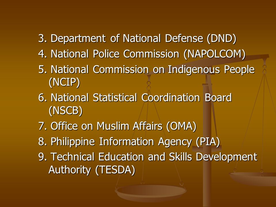 3. Department of National Defense (DND)