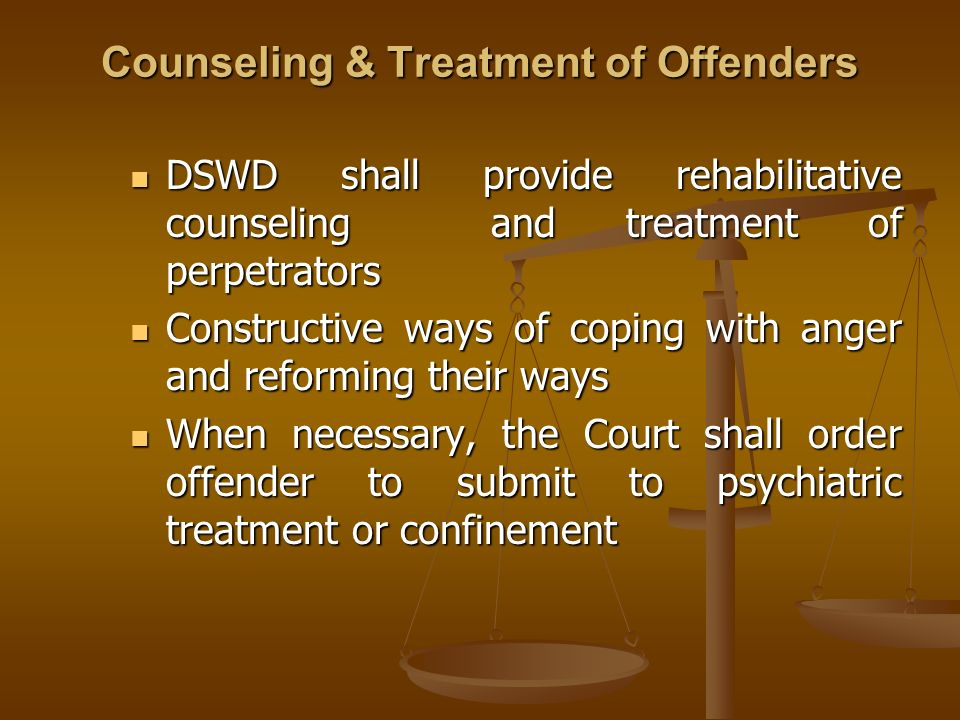 Counseling & Treatment of Offenders