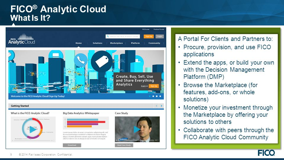 FICO® Analytic Cloud What Is It