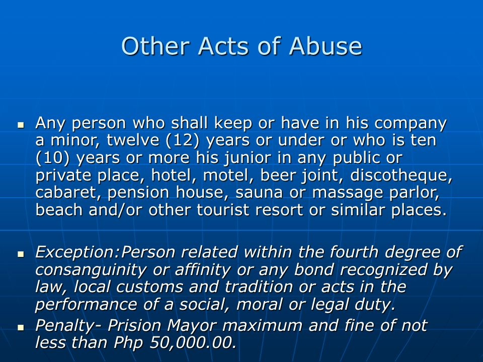 Other Acts of Abuse
