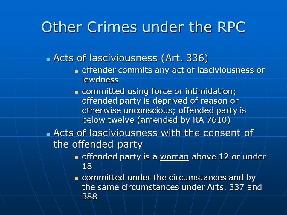 Other Crimes under the RPC