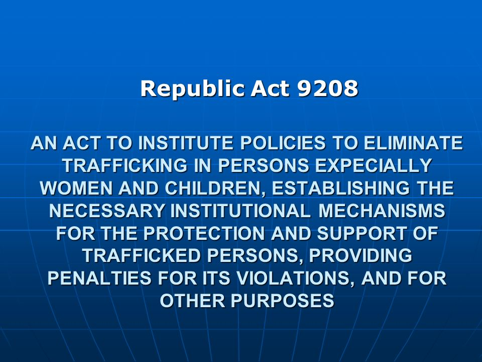Republic Act 9208
