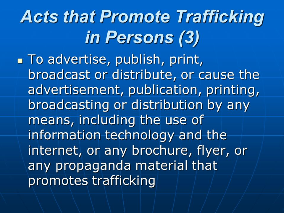 Acts that Promote Trafficking in Persons (3)