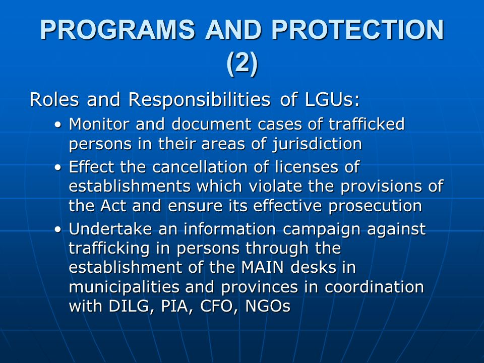 PROGRAMS AND PROTECTION (2)