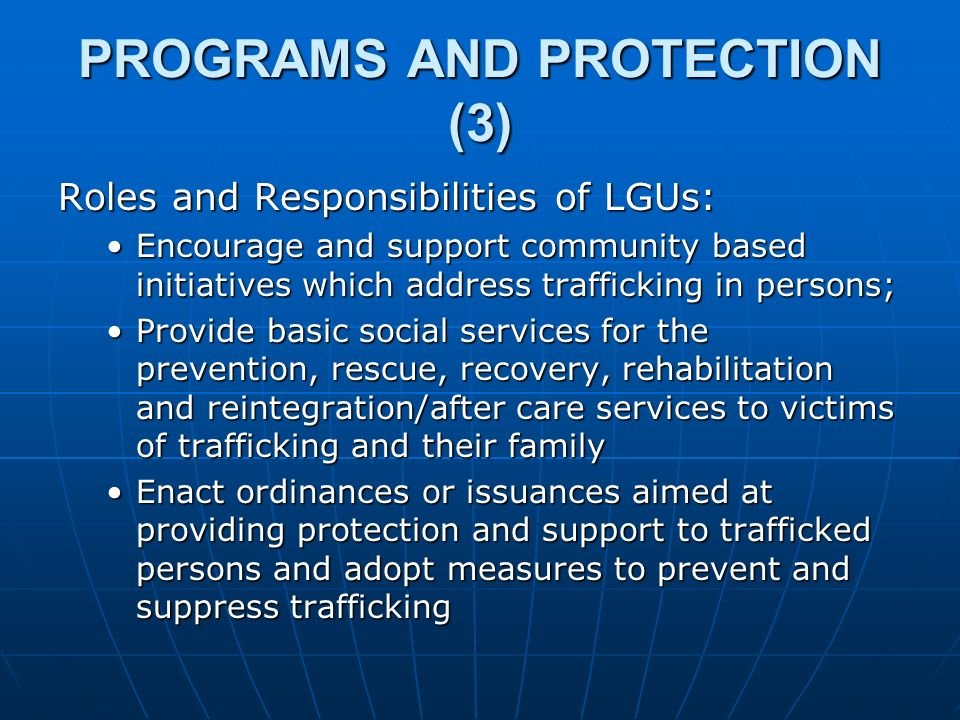 PROGRAMS AND PROTECTION (3)