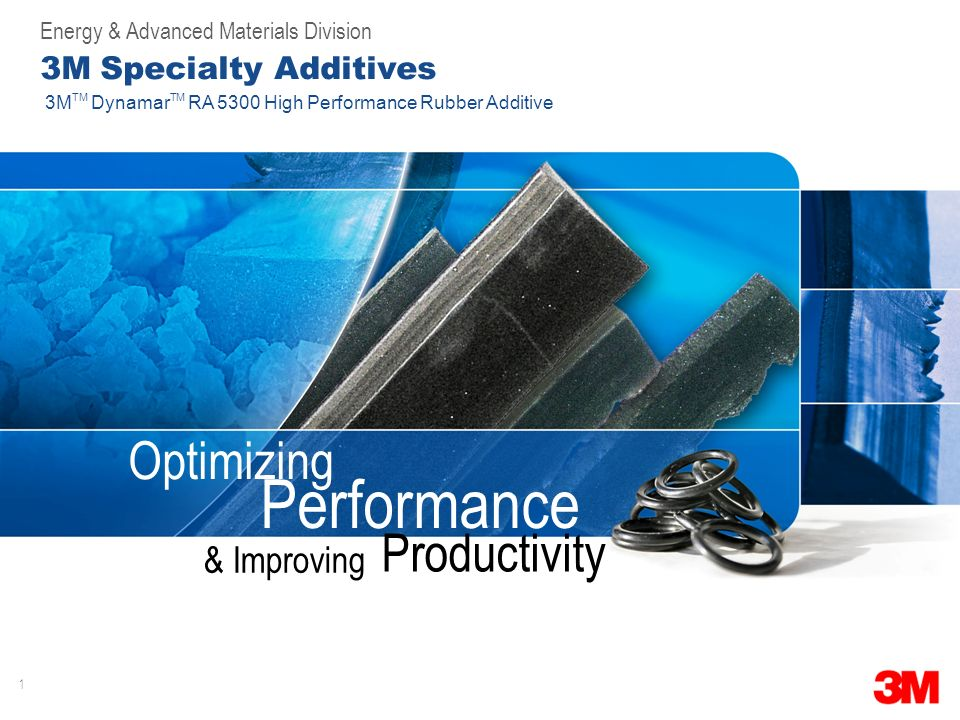 Performance Optimizing Productivity & Improving 3M Specialty Additives
