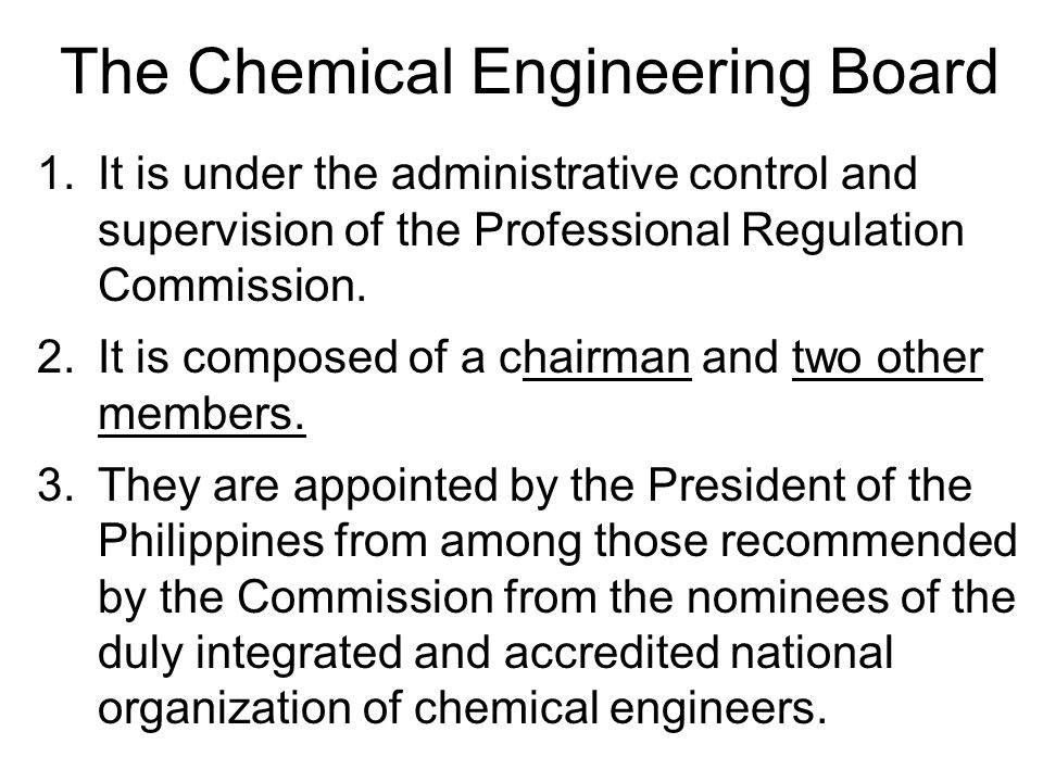 The Chemical Engineering Board