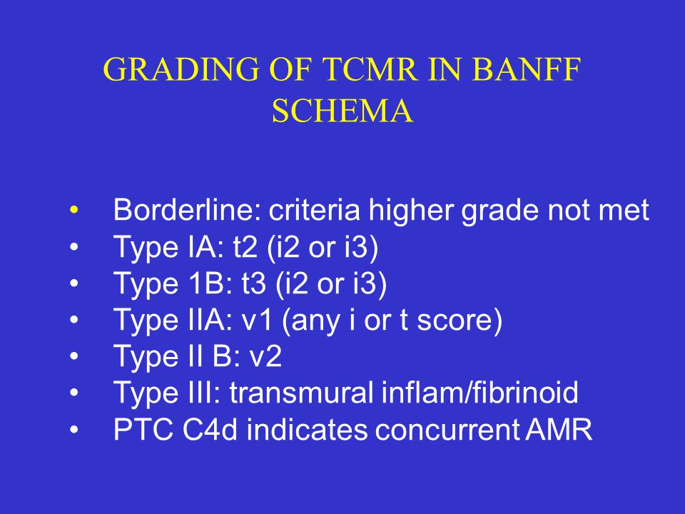 GRADING OF TCMR IN BANFF SCHEMA