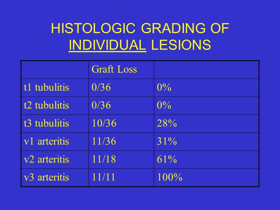 HISTOLOGIC GRADING OF INDIVIDUAL LESIONS