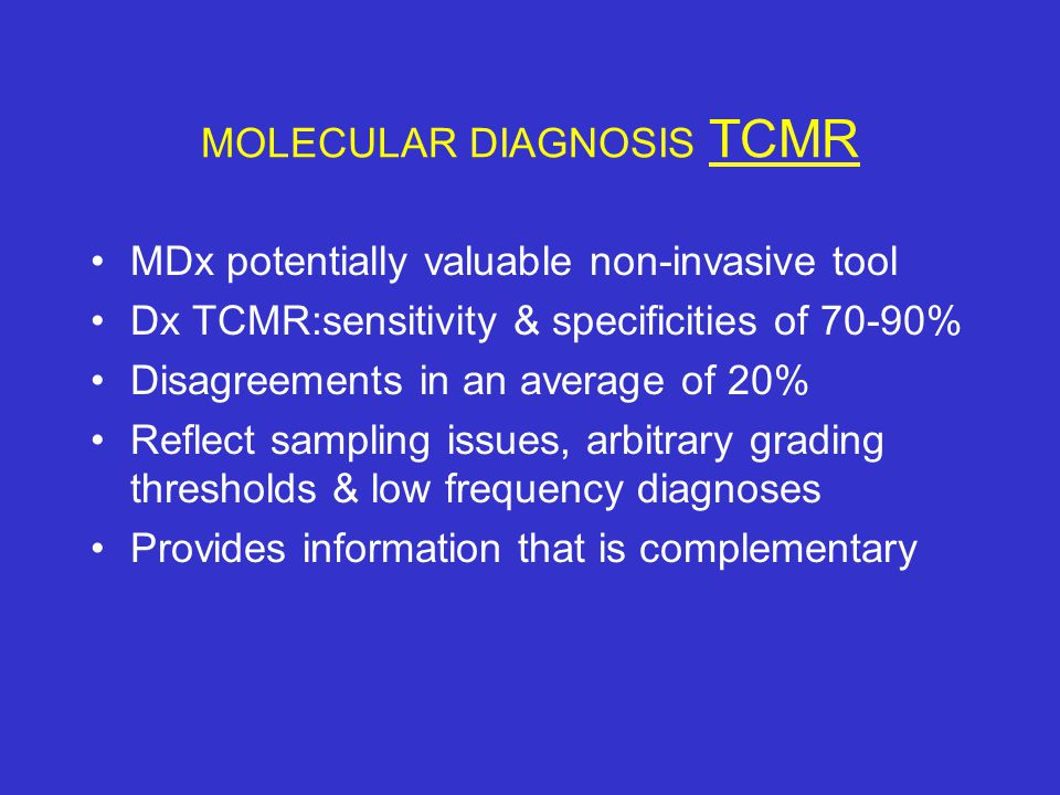MOLECULAR DIAGNOSIS TCMR