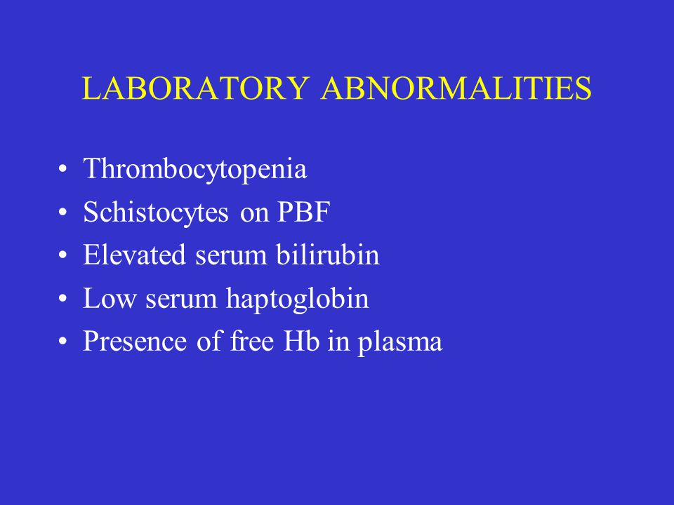 LABORATORY ABNORMALITIES