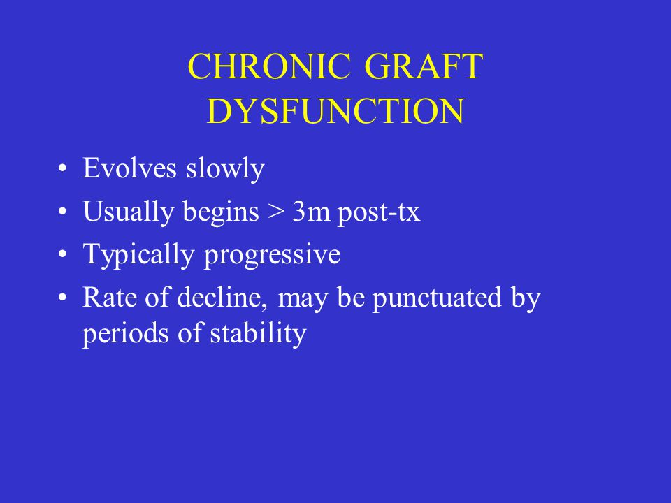 CHRONIC GRAFT DYSFUNCTION