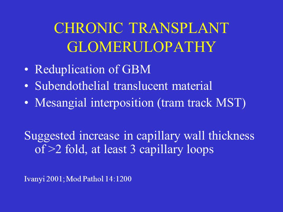 CHRONIC TRANSPLANT GLOMERULOPATHY
