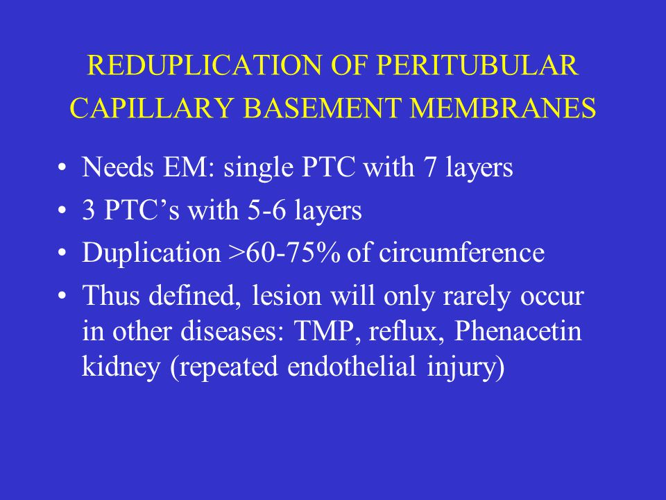 REDUPLICATION OF PERITUBULAR CAPILLARY BASEMENT MEMBRANES