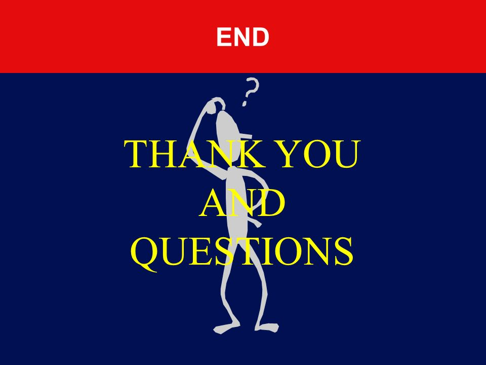 THANK YOU AND QUESTIONS END Take question and answer as required