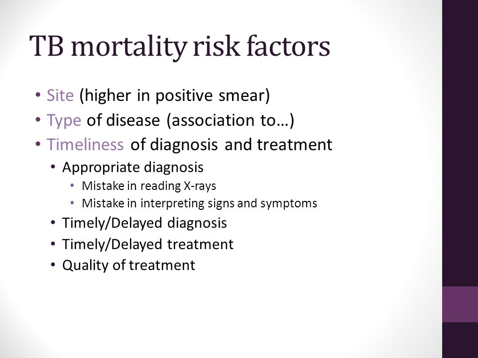 TB mortality risk factors