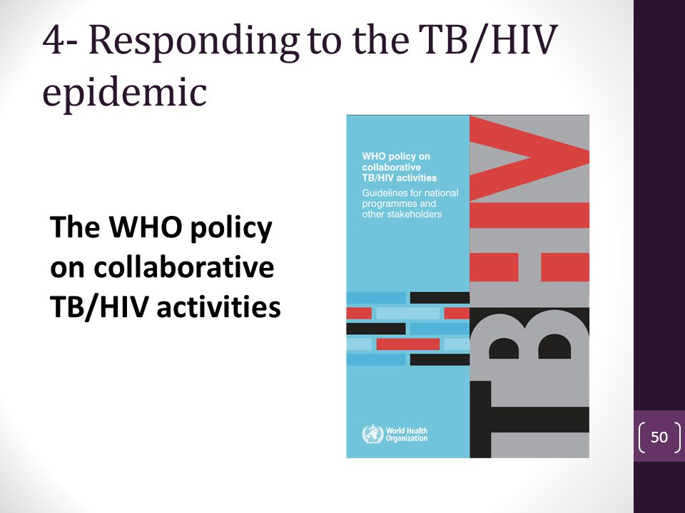 4- Responding to the TB/HIV epidemic