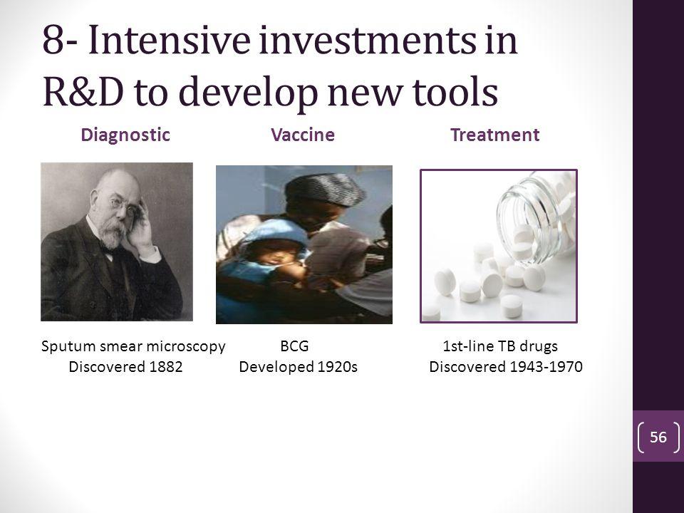 8- Intensive investments in R&D to develop new tools