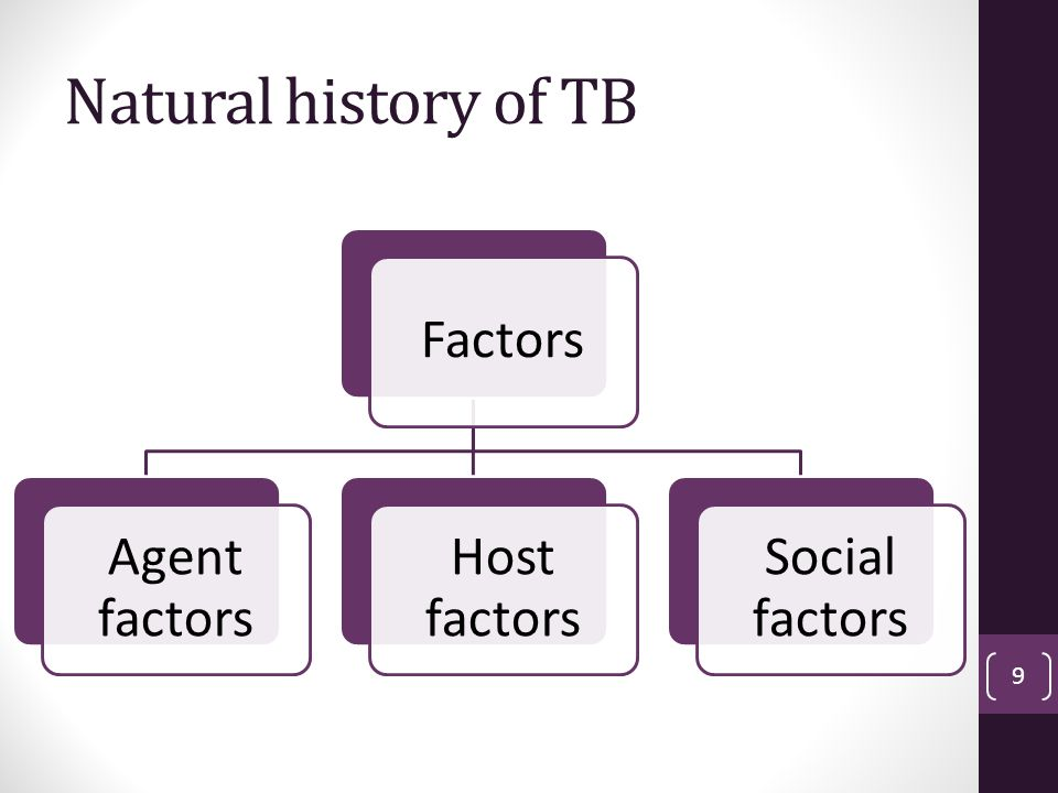 Natural history of TB Factors Agent factors Host factors