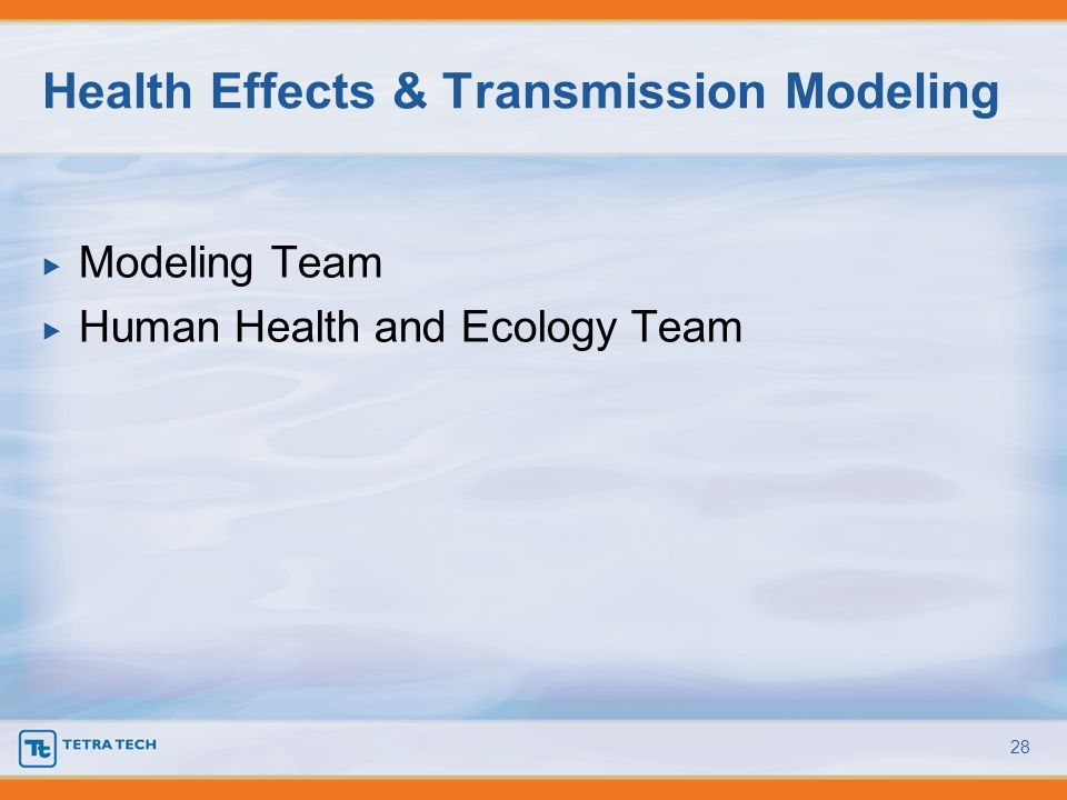 Health Effects & Transmission Modeling