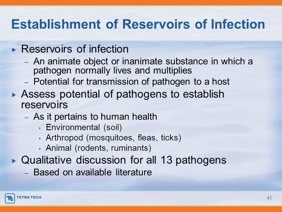 Establishment of Reservoirs of Infection