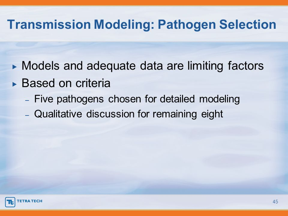 Transmission Modeling: Pathogen Selection