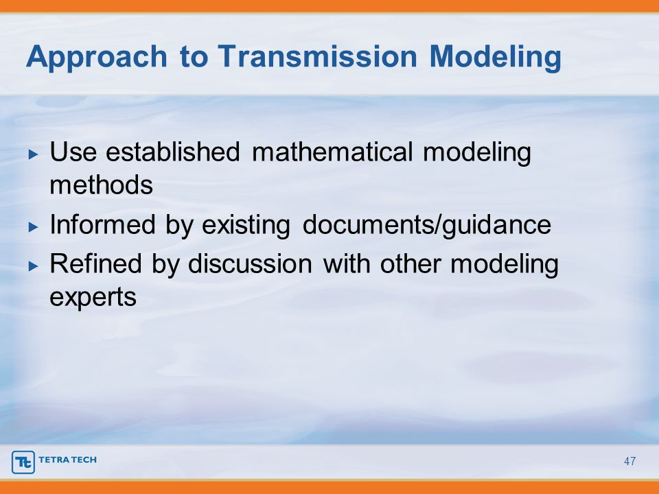Approach to Transmission Modeling