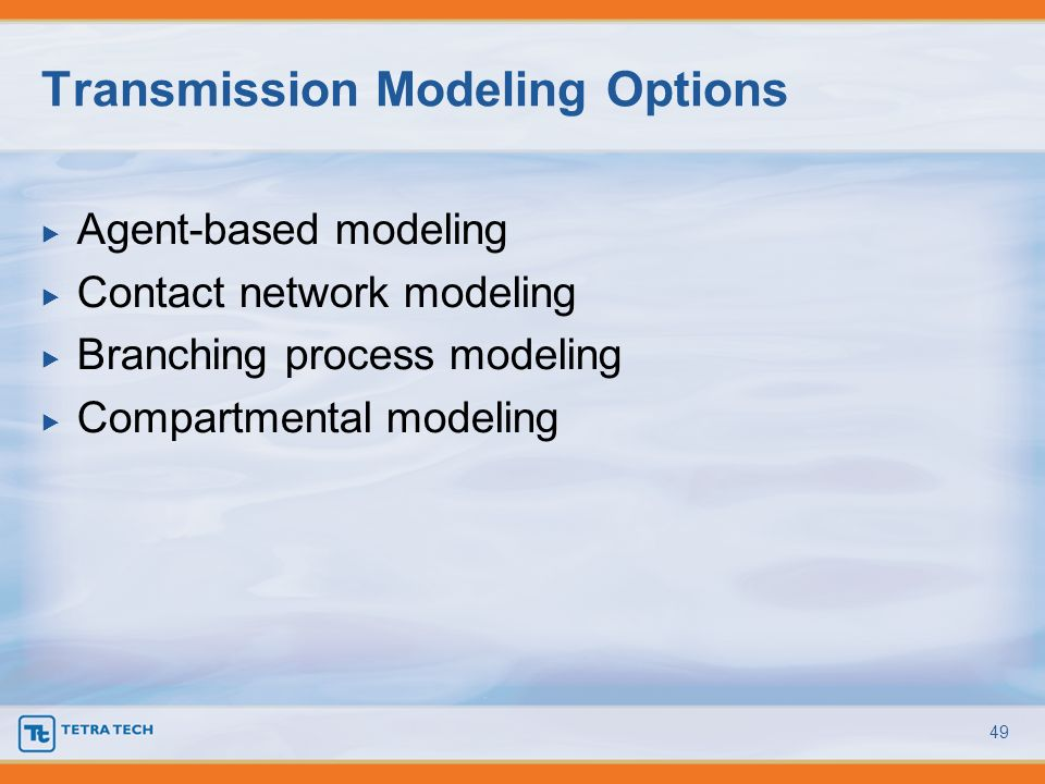 Transmission Modeling Options
