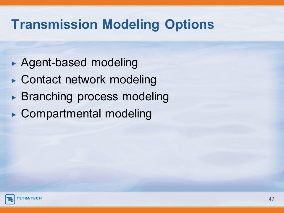Transmission Modeling Options