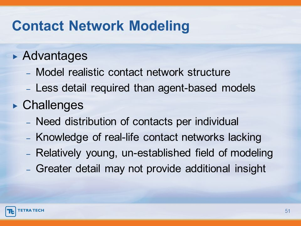 Contact Network Modeling