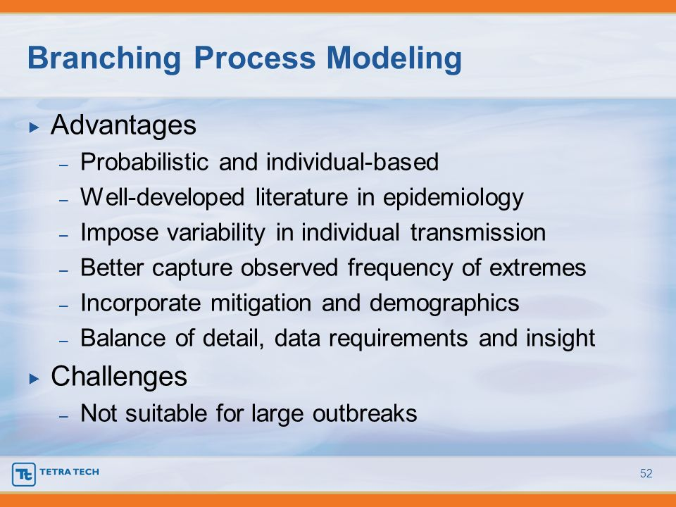 Branching Process Modeling
