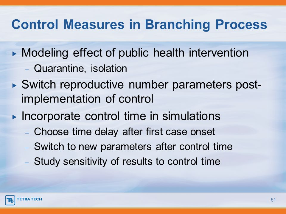 Control Measures in Branching Process