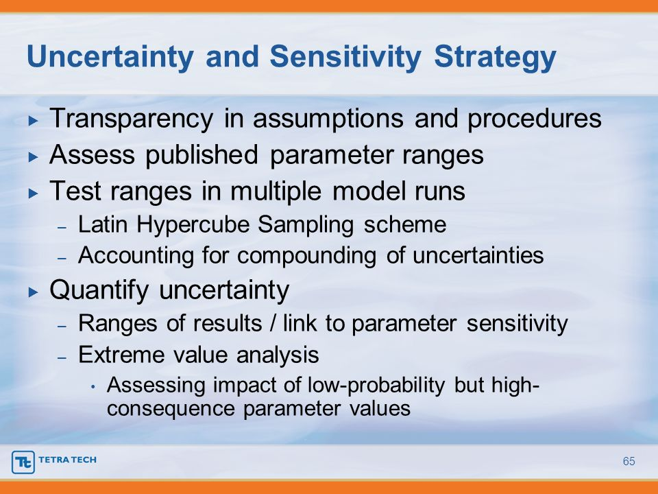 Uncertainty and Sensitivity Strategy
