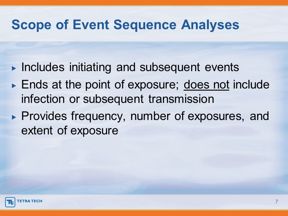 Scope of Event Sequence Analyses