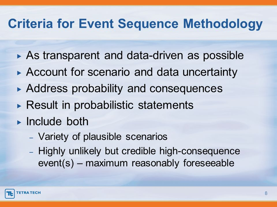 Criteria for Event Sequence Methodology